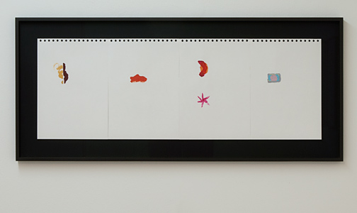 Richard Tuttle / Richard Tuttle Indoor Outdoor (1-4)  2012  each 29.8 x 21 cm acrylic on paper