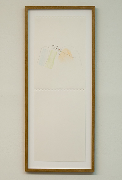Richard Tuttle / Richard Tuttle Source  2012  7 parts, each: 59.5 x 21 cm pencil, colored pencil and collage (grey cardboard) on paper