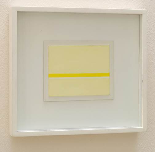 Antonio Calderara / Orizzonte bicromo nel giallo  1968 11 x 14 cm oil on wood