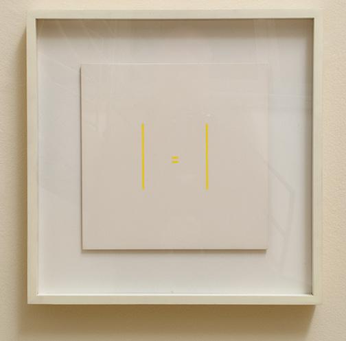 Antonio Calderara / Senza titolo  1973 27 x 27 cm Öl auf Holz