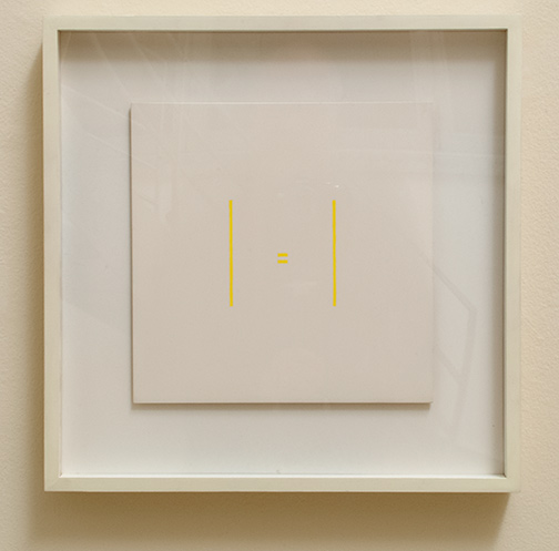 Antonio Calderara / Senza titolo  1973 27 x 27 cm oil on wood