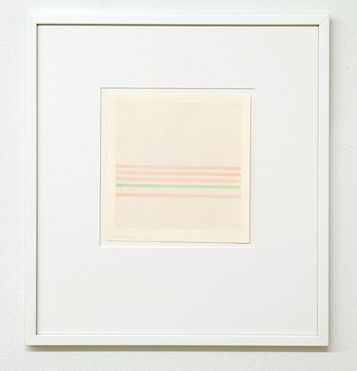 Antonio Calderara / Senza titolo  1972 16 x 15.5 cm pencil and watercolor on paper