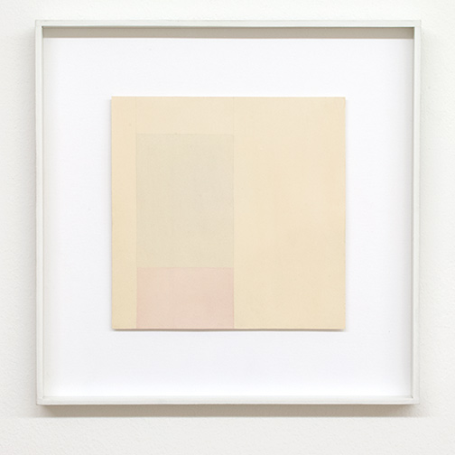 Antonio Calderara / Senza titolo  1960 19 x 19 cm Bleistift und Aquarell auf Papier