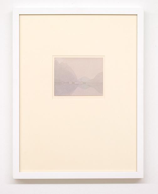 Antonio Calderara / Senza titolo  1953 12 x 15 cm Bleistift und Aquarell auf Papier