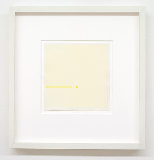 Antonio Calderara / Situazione in giallo  1971 9 parts, each 19 x 19 cm pencil and watercolor on paper