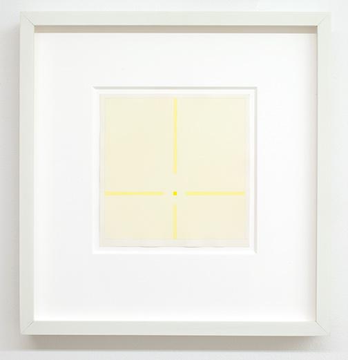 Antonio Calderara / Situazione in giallo 1971 9-teilig, je 19 x 19 cm Bleistift und Aquarell auf Papier