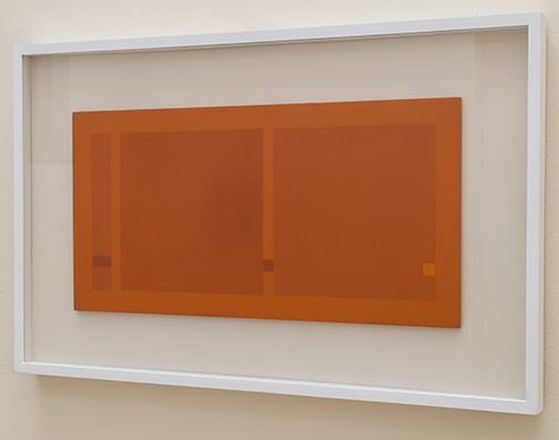Antonio Calderara / Quadrati e rettangoli  1967 27 x 54 cm oil on woodpanel