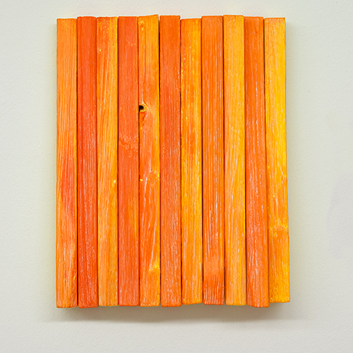 Joseph Egan / Joseph Egan fruit  2018 various paints on wood 37 x 29.5 x 5 cm