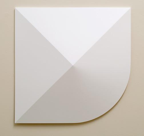 Andreas Christen / Monoform  1959 / 1960  99 x 99 cm Polyester white paint sprayed