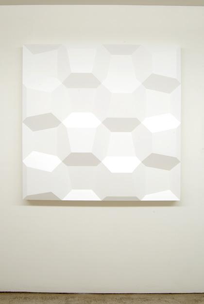 Andreas Christen / Komplementär-Struktur  1974 120 x 120 x 9 cm Polyester white paint sprayed