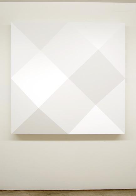 Andreas Christen / Komplementär-Struktur  1980  130 x 130 x 25 cm Epoxy, white paint sprayed