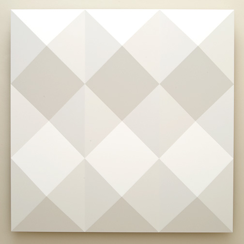 Andreas Christen / Untitled  2005  160 x 160 cm MDF-plate, white paint sprayed