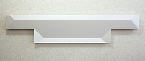 Andreas Christen / Ohne Titel  2005  24 x 116 cm MDF-Platte, weiss gespritzt