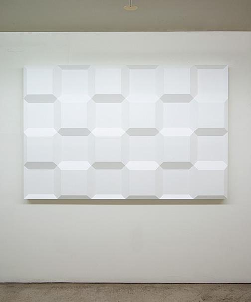 Andreas Christen / Komplementär-Struktur  1975 120 x 180 x 9 cm Epoxy, weiss gespritzt