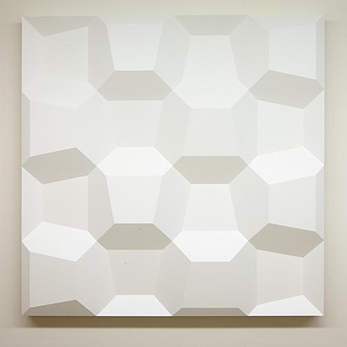 Andreas Christen / Komplementär-Struktur  1974  120 x 120 x 9 cm Epoxy, weiss gespritzt