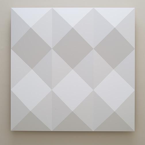 Andreas Christen / Ohne Titel  2005  160 x 160 cm MDF-Platte, weiss gespritzt