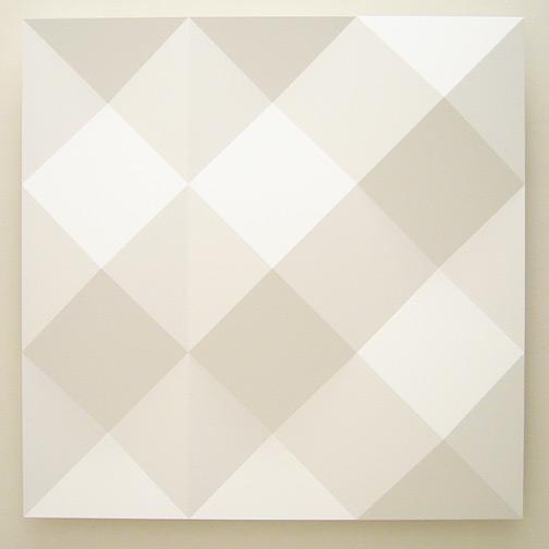 Andreas Christen / ohne Titel  2005 160 x 160 cm MDF-Platte, weiss gespritzt (Nuvovern DS 10.1)