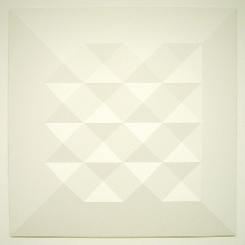Andreas Christen / Monoform  1964 120 x 120 cm Polyester white paint sprayed