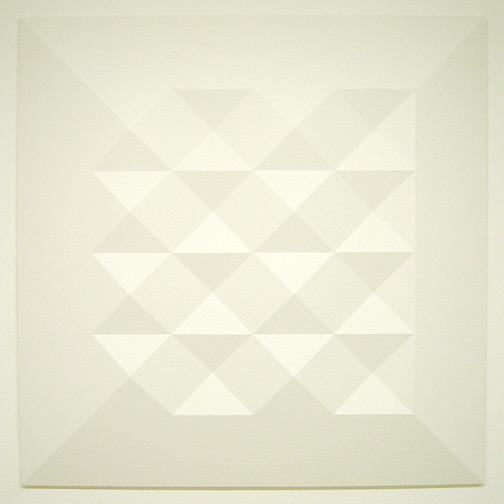 Andreas Christen / Monoform  1964 120 x 120 cm Polyester weiss gespritzt