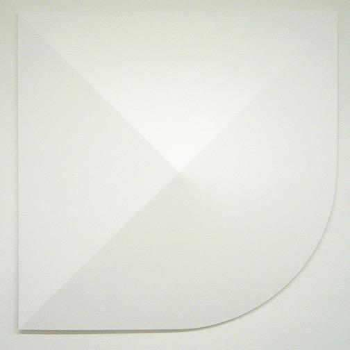 Andreas Christen / Monoform  1959 / 1960 99 x 99 cm Polyester weiss gespritzt