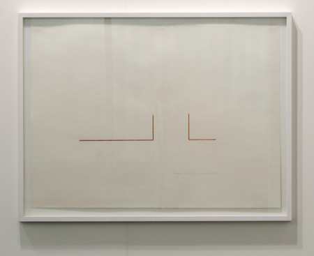 Fred Sandback / Fred Sandback Untitled (Second Two Part Construction)  1976 pastel on paper 55.5 x 76 cm