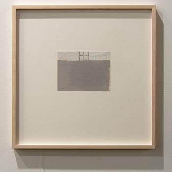 James Bishop / James Bishop Untitled  2011 13.5 x 14.2 cm Oil and crayon on paper