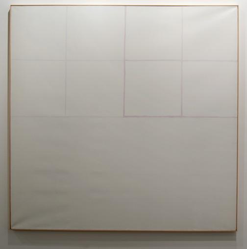"James Bishop / James Bishop Having  1970 194 x 194 cm / 76.5 x 76.5 "" oil on canvas"