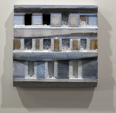 Joseph Egan / Joseph Egan holy war (paintcote Nr. 4)  2011 37 x 37.5 x 6 cm various paints on wood with free elements