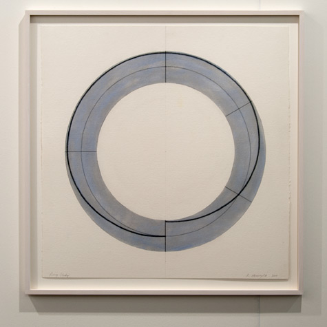 Robert Mangold / Robert Mangold Ring Study  2010 75.6 x 77.5 cm Pastel, graphite and black pencil on paper
