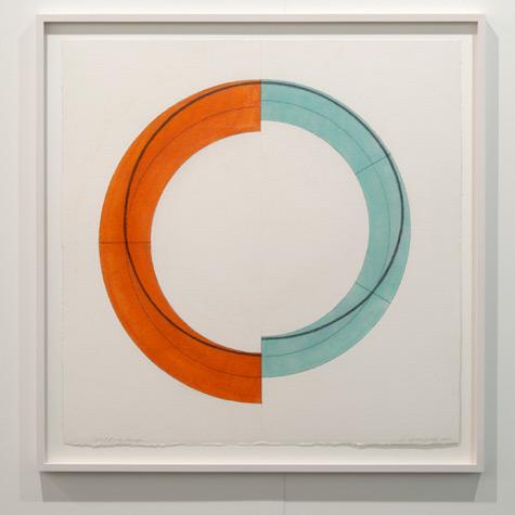 Robert Mangold / Robert Mangold Split Ring Image  2010 75.6 x 77.5 cm Pastel, graphite and black pencil on paper