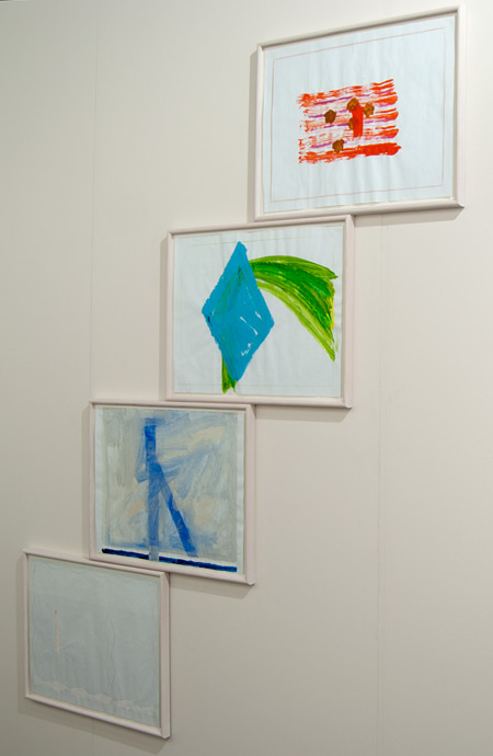 Richard Tuttle / Richard Tuttle Seasons  2000 pencil, color pencil and acrylic on checkered paper