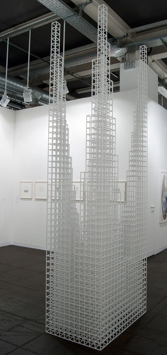 """Sol LeWitt / Sol LeWitt Four Towers Structure  2007 327 x 103.5 x 67.3 cm / 108.75 x 40.75 x 26.5 """" 1/4"""" bass wood painted white"""
