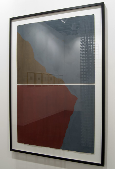 """Sol LeWitt / Sol LeWitt Diptych with Irregular Shapes on Two Different Colors  1997 114.3 x 76.2 cm / 45 x 30 """" gouache on paper"""