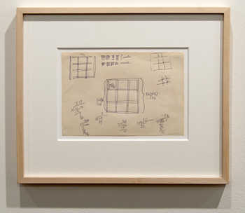 Sol LeWitt / Sol LeWitt Working Drawing for Grid Sculpture  1966 15 x 26 cm pencil on paper (recto/verso) CO210001