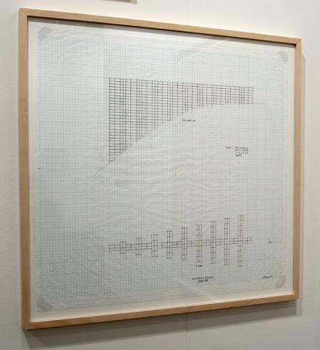 Sol LeWitt / Sol LeWitt Concrete Block Structure (Swiss Re)  2000 61.2 x 63.5 cm pencil on checkered paper