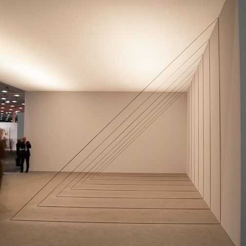 Fred Sandback / Fred Sandback Untitled (Sculptural Study, Seven-part Right-angled Triangular Construction)  1982/2010  Art Unlimited