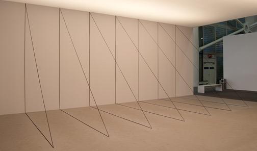 Fred Sandback / Fred Sandback Untitled (Sculptural Study, Seven-part Right-angled Triangular Construction)  1982/2010  Art Unlimited