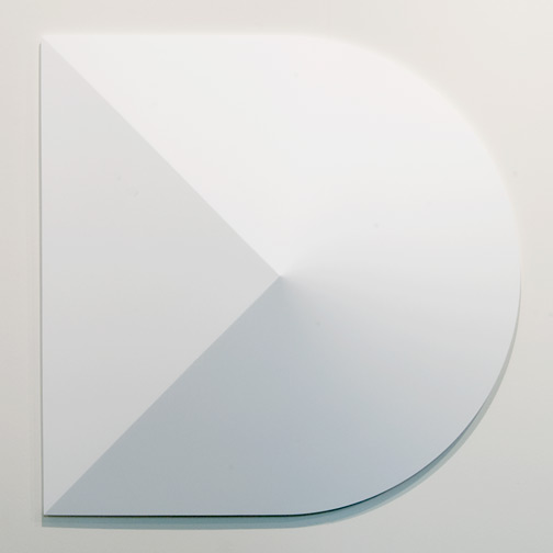 Andreas Christen / Andreas Christen Monoform  1959/1960 99 x 99 cm Polyester, sprayed white