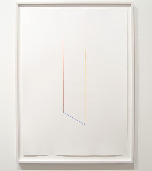 Fred Sandback / Fred Sandback Untitled  1988 109,5 x 79 cm color crayon on paper