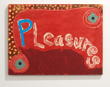 Ree Morton / Ree Morton Pleasures (Signs of Love)  1976 33 x 43 cm oil on plywood