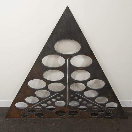 Rita McBride / Rita McBride Triangle Oval Template  2006 127 x 147 x 8 cm plasma cut, 8mm steel plate