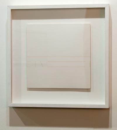 Antonio Calderara / Antonio Calderara Spazio Luce  1976 27 x 27 cm Oel auf Holztafel