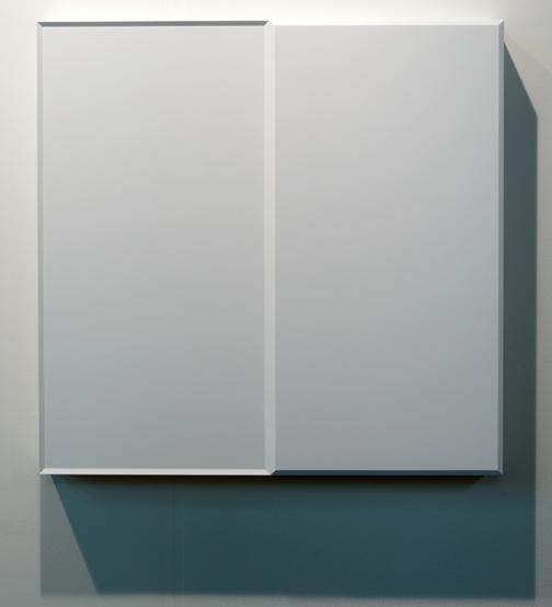 Andreas Christen / Andreas Christen Ohne Titel  1988 82 x 84 x 8,5 cm Holz, weiss gespritzt