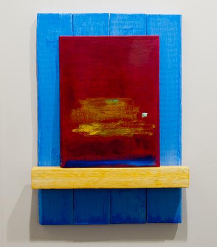 Joseph Egan / Joseph Egan phoenix  2012 56 x 38 x 8 cm Painted wood and painted panel