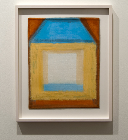 Joseph Egan / Joseph Egan the blue roof  2012 28,5 x 32 x 2,5 cm various paints on canvas with framing
