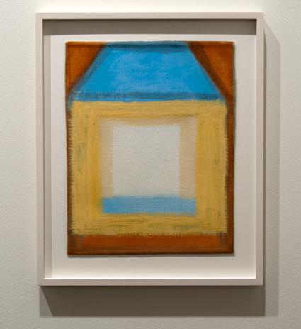 Joseph Egan / Joseph Egan the blue roof  2012 28,5 x 32 x 2,5 cm Oel auf Leinwand mit Rahmung