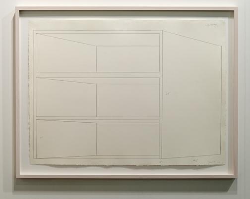 Donald Judd / Donald Judd Concrete Drawing  1974 58,4 x 78,7 cm Graphit auf Papier