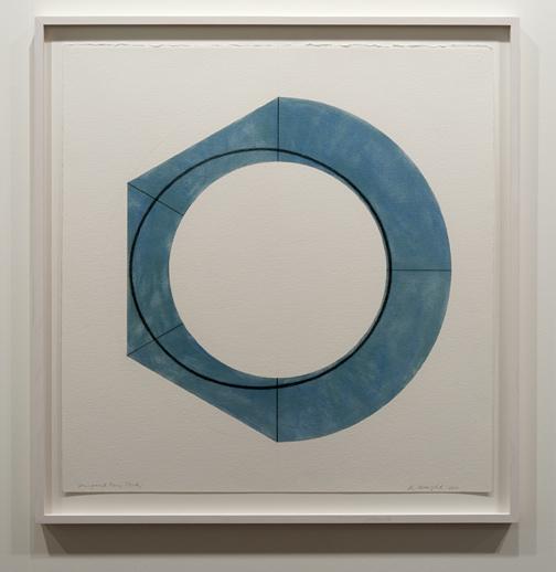 Robert Mangold / Robert Mangold Compound Ring Study  2011 75,6 x 79,1 cm Pastell, Graphit und Bleistift auf Papier