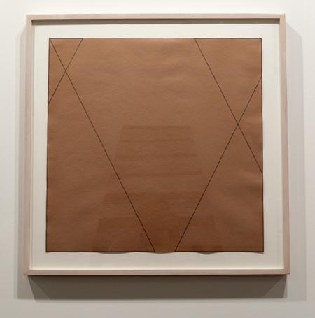 Robert Mangold / Robert Mangold Untitled  1974 55,5 x 55,5 cm Farbstift auf braunem Papier
