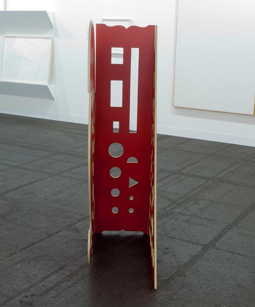Rita McBride / Rita McBride Stratacolor  2008 121,9 x 86,4 x 50,8 cm gefrästes Kernverbund-Laminat auf Holz Edition 1 von 2